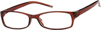 Angle of The Yorktown in Brown, Women's Rectangle Reading Glasses