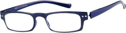 Angle of The Paoli Flexible Reader in Navy Blue, Women's and Men's Rectangle Reading Glasses