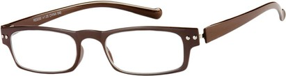 Angle of The Paoli Flexible Reader in Brown, Women's and Men's Rectangle Reading Glasses