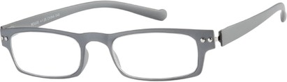 Angle of The Paoli Flexible Reader in Grey, Women's and Men's Rectangle Reading Glasses