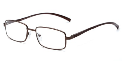 Angle of The Damien in Bronze, Women's and Men's Rectangle Reading Glasses