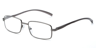 Angle of The Damien in Grey, Women's and Men's Rectangle Reading Glasses