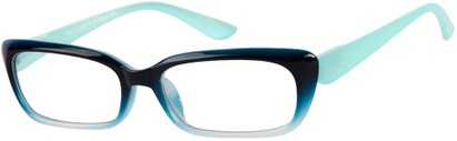 Angle of The Ursula in Blue Fade, Women's and Men's