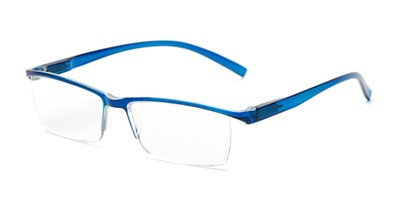 Angle of The Halpert in Blue, Women's and Men's Rectangle Reading Glasses