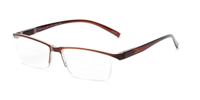 Angle of The Halpert in Brown, Women's and Men's Rectangle Reading Glasses