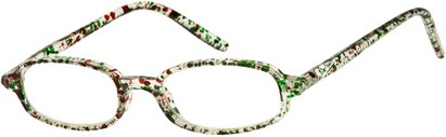 Angle of The Orchard in Clear with Red/Green Speckles, Women's and Men's