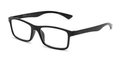 Angle of The Leaf in Black, Women's and Men's Rectangle Reading Glasses