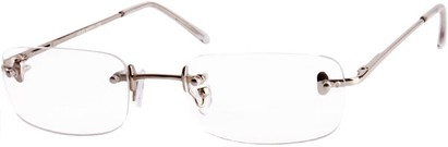 Angle of The Fairmount in Silver, Women's and Men's Rectangle Reading Glasses