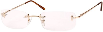 Angle of The Fairmount in Gold, Women's and Men's Rectangle Reading Glasses