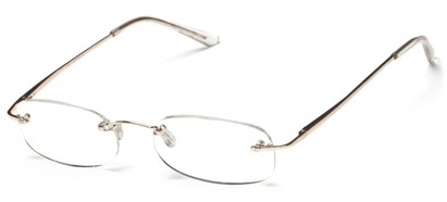 Angle of The Carmichael in Gold, Women's and Men's Rectangle Reading Glasses