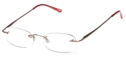 Angle of The Carmichael in Pink, Women's and Men's Rectangle Reading Glasses