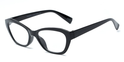Angle of The Brinley in Black, Women's Cat Eye Reading Glasses