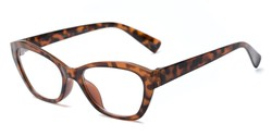 Angle of The Brinley in Tortoise, Women's Cat Eye Reading Glasses