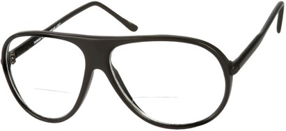 Angle of The Wesley Bifocal in Matte Black, Women's and Men's