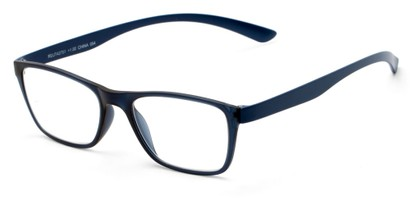 Angle of The Somerset Flexible Reader in Blue, Women's and Men's Retro Square Reading Glasses