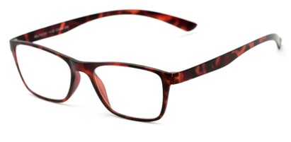 Angle of The Somerset Flexible Reader in Tortoise, Women's and Men's Retro Square Reading Glasses