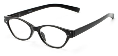 Angle of The Liza in Black, Women's Oval Reading Glasses