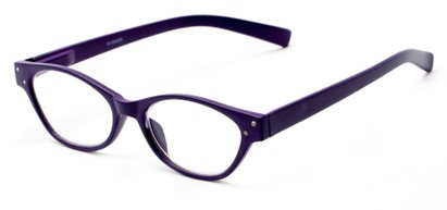Angle of The Liza in Purple, Women's Oval Reading Glasses