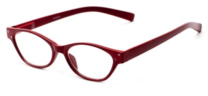 Angle of The Liza in Red, Women's Oval Reading Glasses