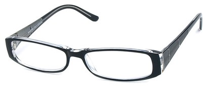 Angle of The Olivia in Black and Clear, Women's and Men's