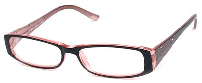 Angle of The Olivia in Black and Pink, Women's and Men's