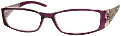 Angle of The Connie in Purple, Women's Rectangle Reading Glasses