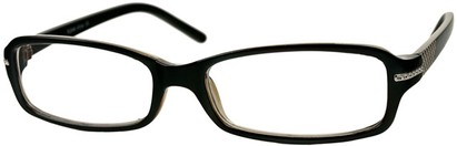 Angle of The Danica in Black/Brown, Women's Rectangle Reading Glasses