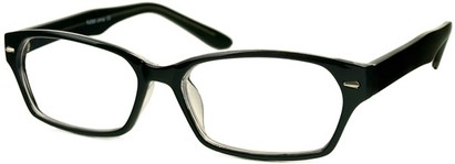Angle of The Waverly in Black, Women's and Men's Rectangle Reading Glasses
