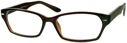 Angle of The Waverly in Dark Brown, Women's and Men's Rectangle Reading Glasses