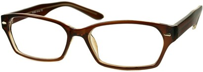Angle of The Waverly in Light Brown, Women's and Men's Rectangle Reading Glasses