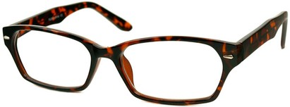 Angle of The Waverly in Tortoise Brown, Women's and Men's Rectangle Reading Glasses