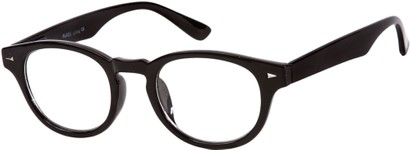 Angle of The Clay in Black, Women's and Men's Round Reading Glasses