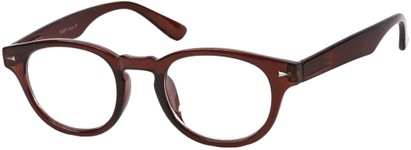 Angle of The Clay in Brown, Women's and Men's Round Reading Glasses