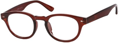 Angle of The Clay in Red, Women's and Men's Round Reading Glasses