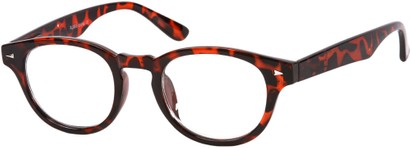 Angle of The Clay in Brown Tortoise, Women's and Men's Round Reading Glasses