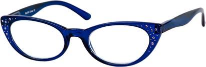 Angle of The Imperial in Blue, Women's Cat Eye Reading Glasses
