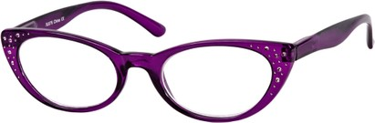 Angle of The Imperial in Purple, Women's Cat Eye Reading Glasses