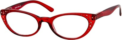 Angle of The Imperial in Red, Women's Cat Eye Reading Glasses