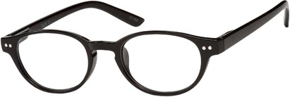 Angle of The August in Black, Women's and Men's Round Reading Glasses