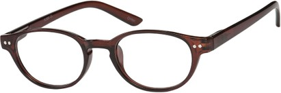 Angle of The August in Brown, Women's and Men's Round Reading Glasses