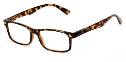 Angle of The Gable in Tortoise, Women's and Men's Rectangle Reading Glasses