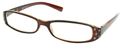 Angle of The Joyce in Brown Frame, Women's and Men's