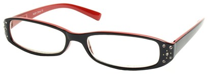 Angle of The Joyce in Black and Red Frame, Women's and Men's
