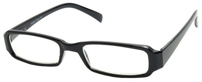 Angle of The Becky in Black Frame, Women's and Men's