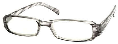 Angle of The Becky in Grey and Clear Frame, Women's and Men's