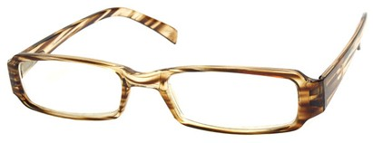 Angle of The Becky in Brown and Clear Frame, Women's and Men's