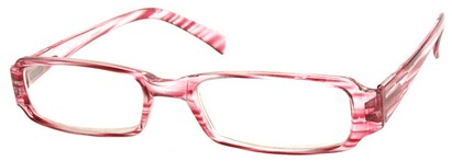 Angle of The Becky in Pink and Clear Frame, Women's and Men's