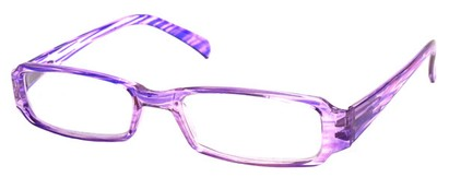 Angle of The Becky in Purple and Clear Frame, Women's and Men's