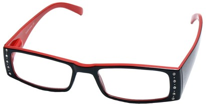 Angle of The Terryl in Black and Red, Women's and Men's
