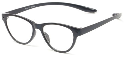 Angle of The Shawna Flexible Hanging Reader in Grey, Women's Cat Eye Reading Glasses